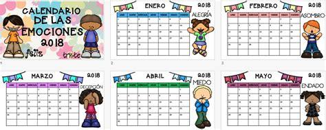 Calendario 2018 EDITABLE trabajamos las emociones ...