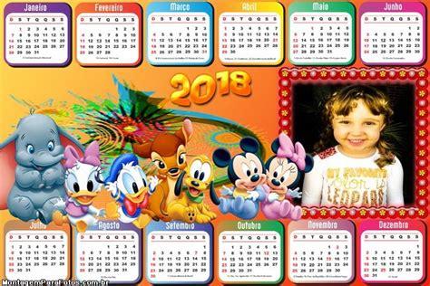 Calendário 2018 Horizontal Disney Baby | Montagem para Fotos