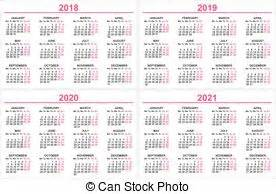 Calendario, 2019, 2018.