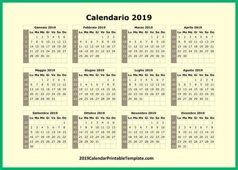 Calendario 2019 - 2019 Calendar Spanish - 2019 Calendar ...