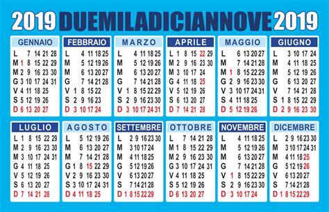 calendario 2019 annuale vettoriale PDF - Calendario 2019 ...