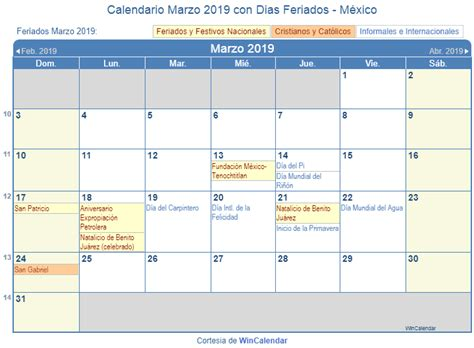 Calendario 2019 Con Dias Festivos