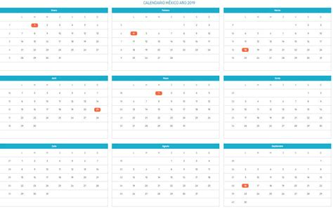 Calendario 2019 Con Festivos Mexico | www.imagenesmy.com