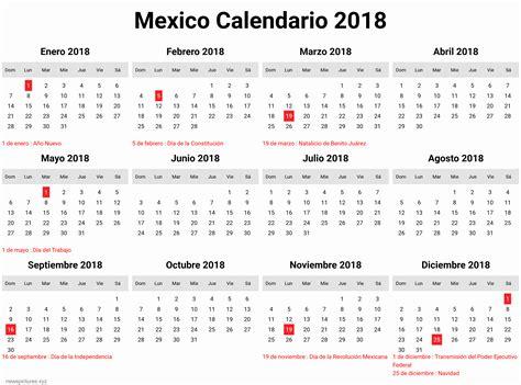 Calendario 2019 Mexico Con Dias Festivos Para Imprimir ...