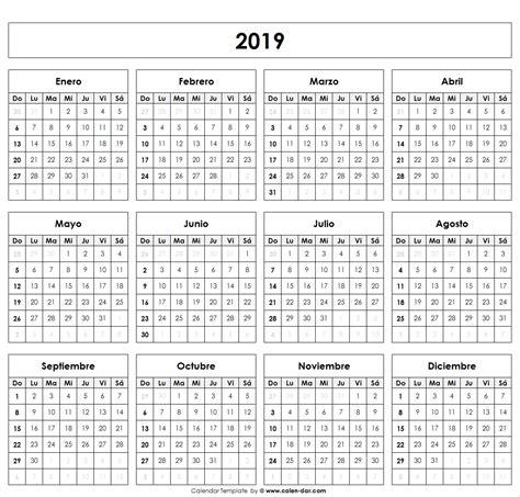Calendario 2019 | Spanish Calendario | Pinterest ...