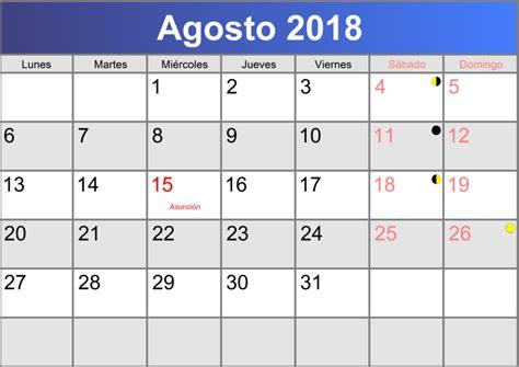 Calendario agosto 2018 imprimible PDF   abc calendario.es
