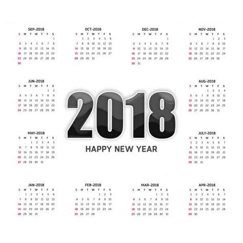 Calendario blanco para 2018 | Descargar Vectores gratis