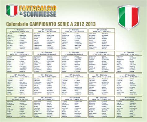 Calendario Calcio Serie A 2012 13 Pdf