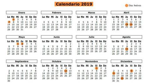 Calendario: Calendario laboral 2019 de Madrid: los doce ...