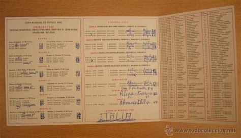 calendario campeonato mundial futbol españa 198 - Comprar ...