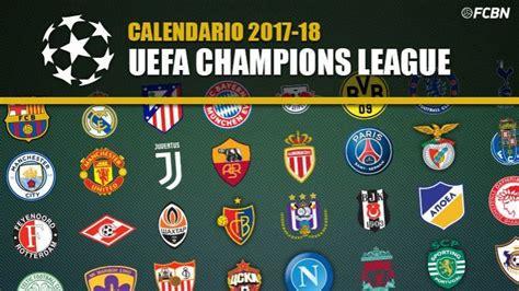 Calendario Champions League 2017-2018 - FC Barcelona Noticias