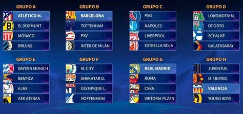 Calendario Champions League 2018-2019 | Fixture Completo