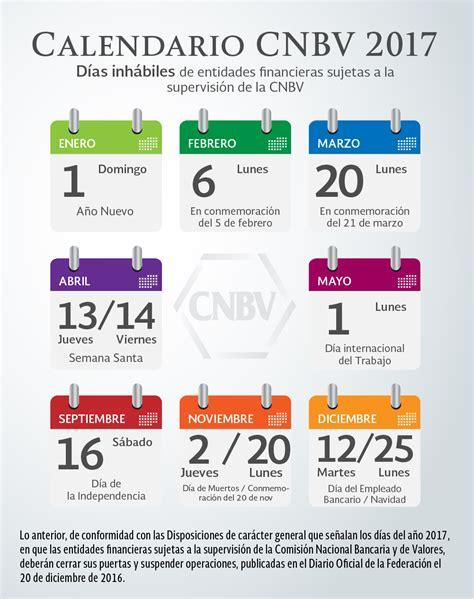Calendario CNBV 2017 | Comisión Nacional Bancaria y de ...