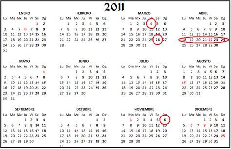 Calendario com semanas 2011 - Imagui