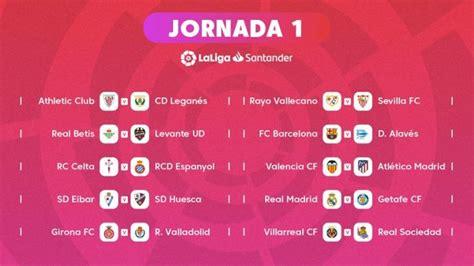 Calendario completo de LaLiga 2018/2019 - Estadio deportivo