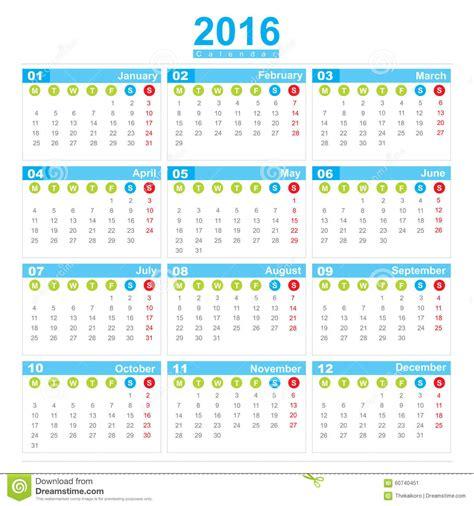 Calendario Con Numero De Semanas 2016 | Calendar Template 2018
