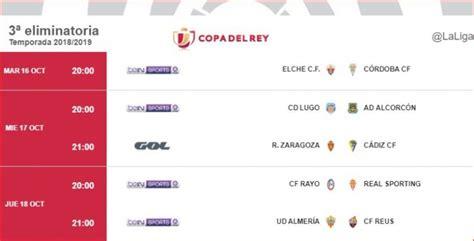 Calendario Copa del Rey 2018: Horarios, dónde ver en TV y ...