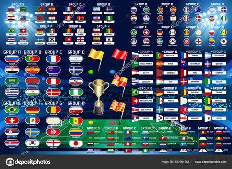 Calendario de Campeonato Mundial Fútbol — Archivo Imágenes ...