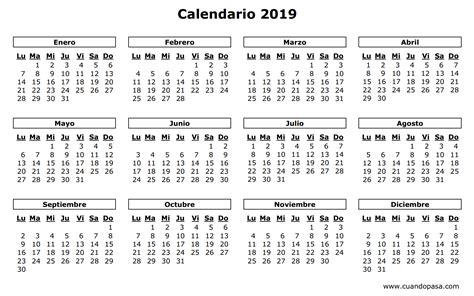 Calendario de Chile 2019