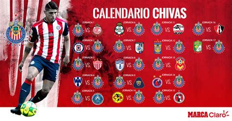 Calendario de Chivas para el torneo Clausura 2018 • Tiempo ...