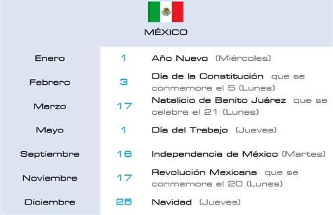 Calendario de Días Festivos   HITSS México
