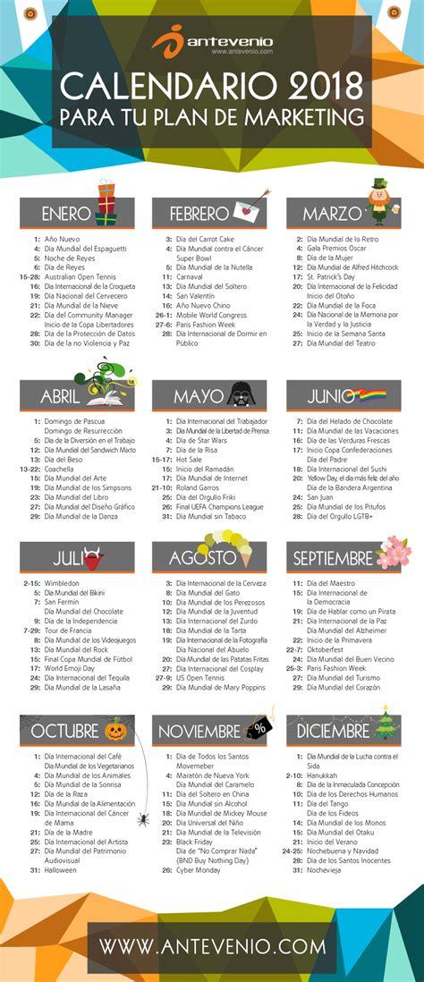 Calendario de marketing 2018 para Argentina: Diseña el ...