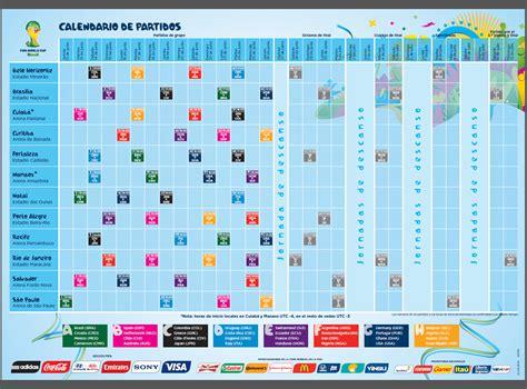 Calendario de partidos Copa Mundial de la FIFA Brasil 2014 ...