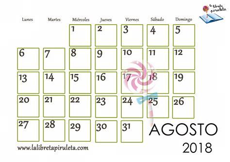Calendario Del Mes De Agosto 2018   Chungcuso3luongyen