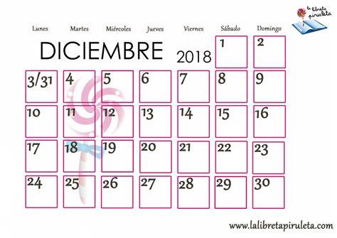 calendario diciembre 2018 para imprimir   Keni ...