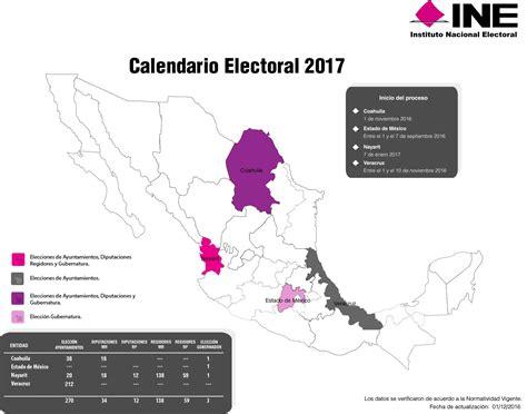 Calendario Electoral | Instituto Nacional Electoral