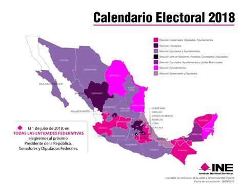 Calendario electoral México 2018 - CalendarioLaboral.com.mx