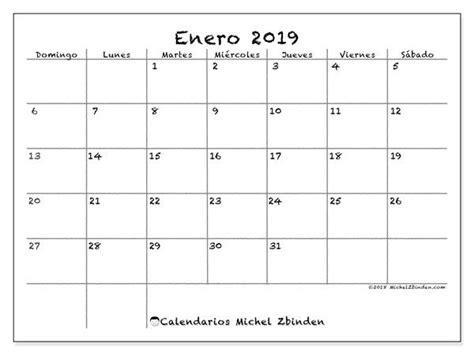 Calendario enero 2019  77DS    Calendario para imprimir ...