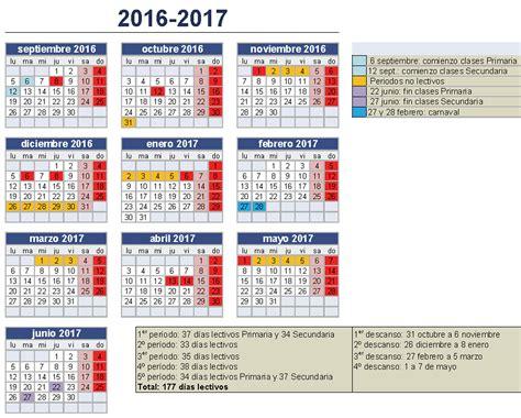 Calendario Escolar 2016 17 En Andalucia ...