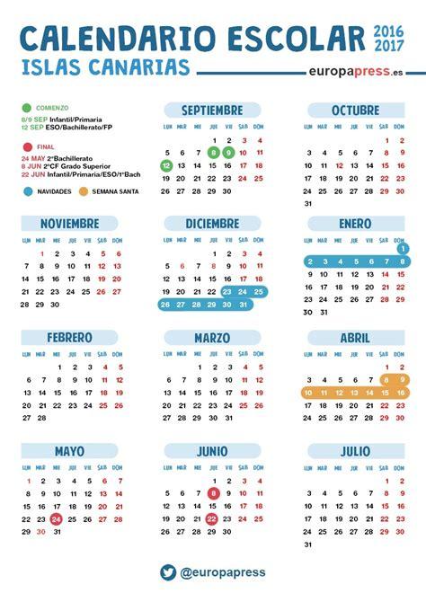 Calendario escolar 2016/2017 en Canarias: Navidad, Semana ...