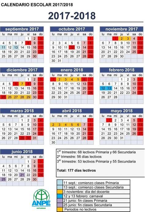 Calendario escolar 2017 2018, más de 100 imágenes para ...