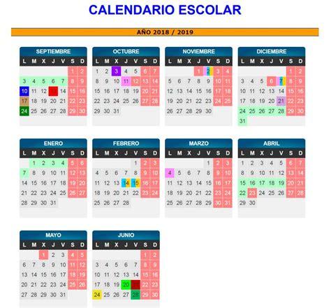 Calendario escolar de Aragón en el curso 2018-2019