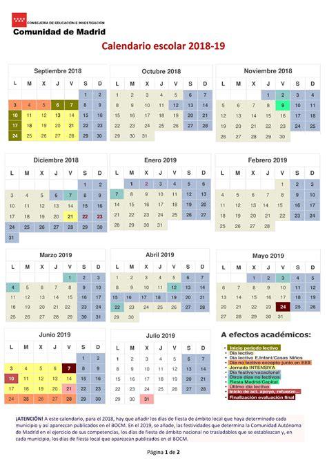 Calendario escolar oficial   centro.ies.albeniz.alcala ...