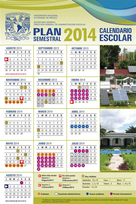 Calendario Escolar Unam Cch   kalentri 2018