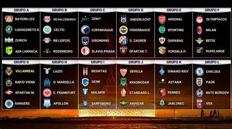 Calendario Europa League 2018-2019   Fixture completo