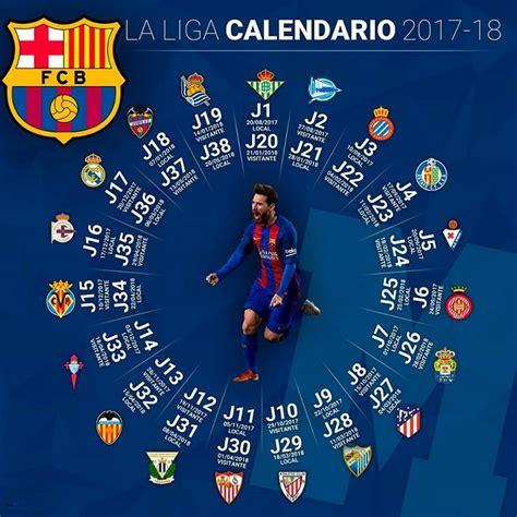Calendario FC Barcelona 2017 2018 | Liga Española Santander