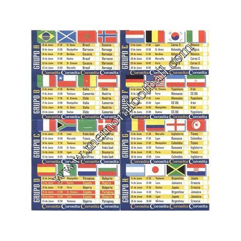 Calendario FIFA World Cup France 1998   Memora Football