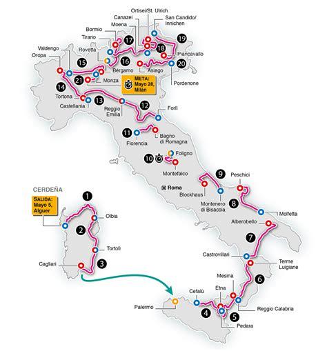 Calendario Giro de Italia 2017   AS.com