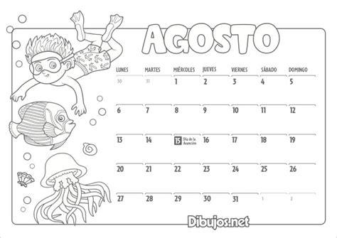 Calendario Infantil 2018 para Imprimir y Colorear ...
