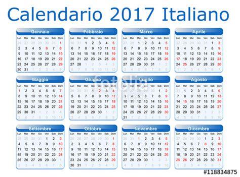 Calendario Italiano 2017 Da Stampare