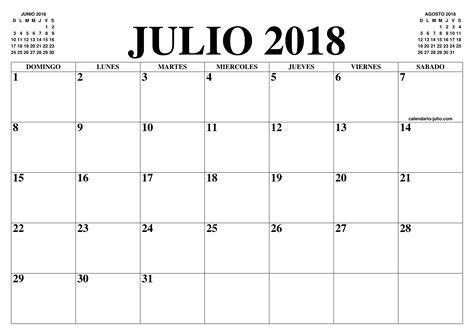CALENDARIO JULIO 2018   2019 : EL CALENDARIO JULIO 2018 ...
