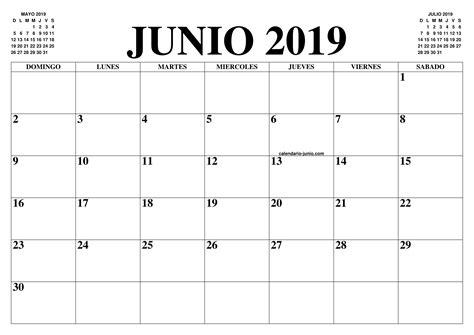 CALENDARIO JUNIO 2019 : EL CALENDARIO JUNIO PARA IMPRIMIR ...