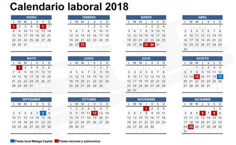 CALENDARIO LABORAL 2.018