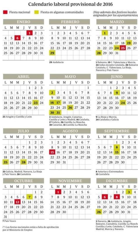 Calendario laboral 2016 Extremadura   Blog de Opcionis