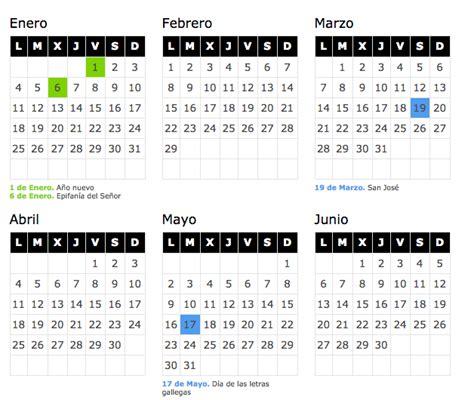 Calendario laboral 2016 Galicia   Blog de Opcionis