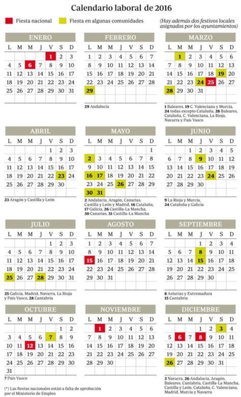 Calendario Laboral 2017   Madrid   Blog de Opcionis